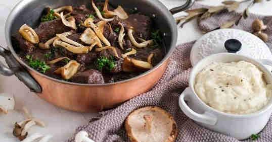 Deer Stew with Celera Mash