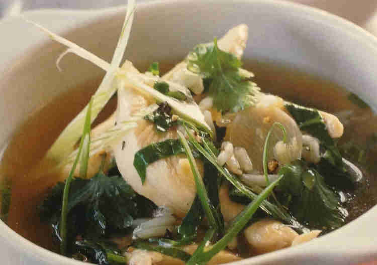 Chicken Soup with Ginger and Lemon