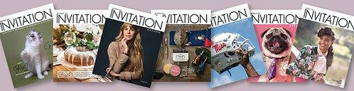 One Year Subscription - Invitation Magazines
