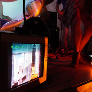 Close up of our TV video art