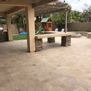 CUSTOM BENCHES/ FIRE PIT/ BBQ