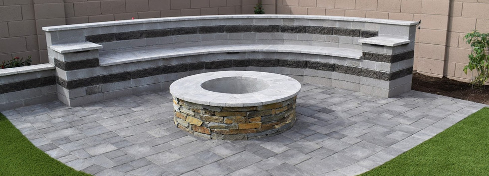 CUSTOM FIRE PIT WITH BENCH