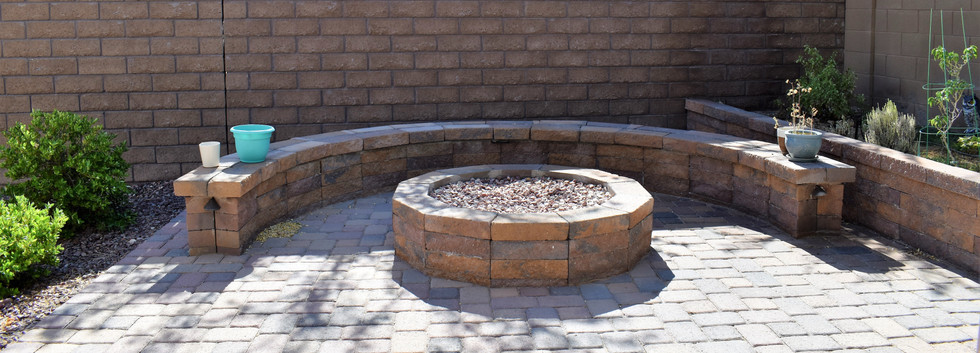 CUSTOM FIRE PIT AND BENCH
