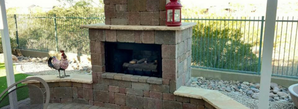 CUSTOM FIRE PLACE WITH BENCH