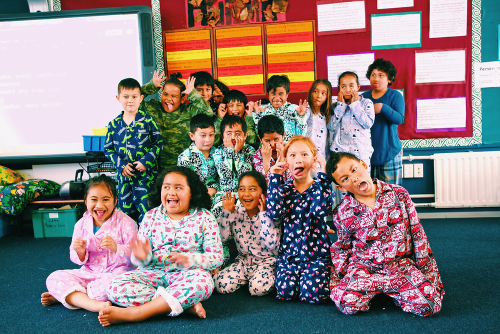 Middlemore Foundation Jammies in June kids in pyjamas being silly and happy