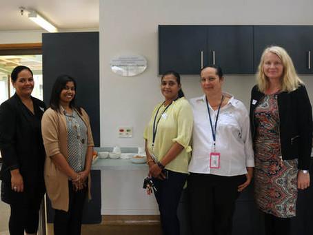 Royal District Nursing Services donate kitchen appliances to ASRU