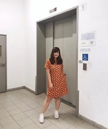 Eleanor Reversible Dress in Mustard
