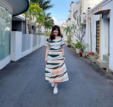 Moris Two-Way Dress in Green