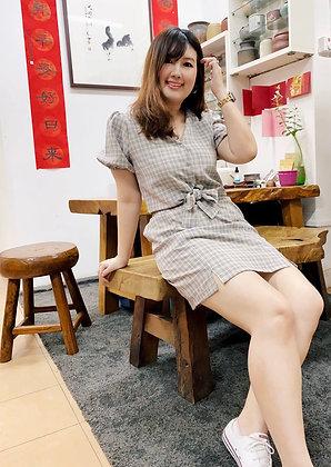 Eun-Ae Button-front and Skirt Set