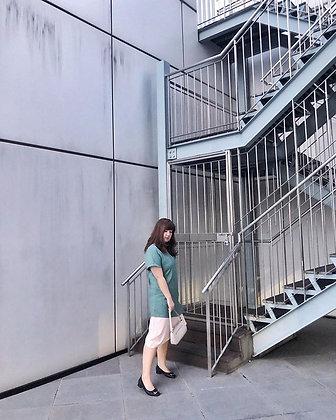 Gabriela Midi Dress in Pastel Mint