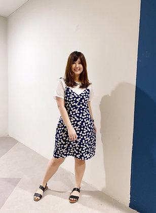 Alisa Daisy Dress in Blue