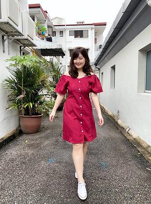 Janea Dress 2-way Dress in Red