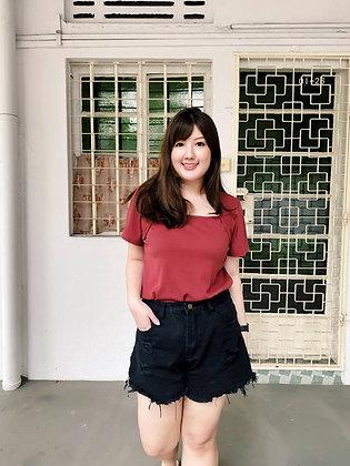 Zaria Black Denim Shorts