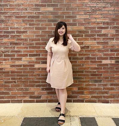 Hailey Romper Dress in Peach