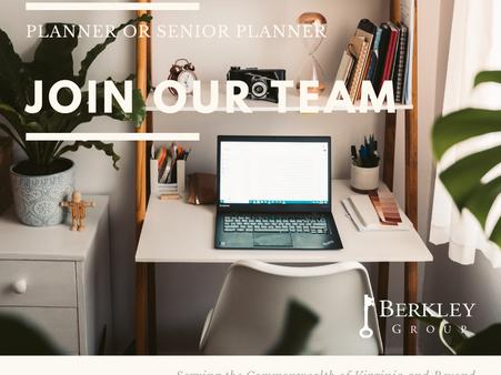 JOIN OUR TEAM! Planner or Senior Planner