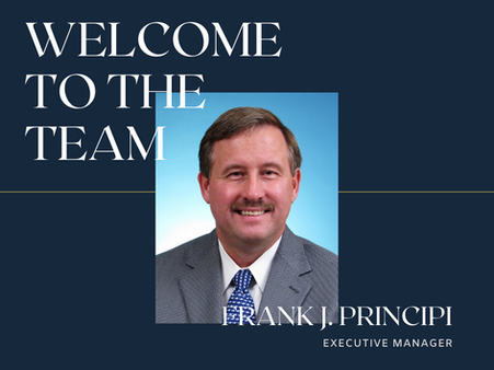 WELCOME FRANK J. PRINCIPI