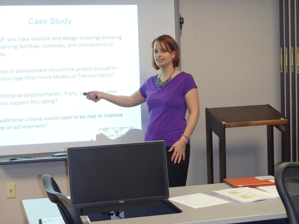 Caption: Denise Nelson, PE, Environmental Engineer with the Berkley Group, taught the Envision class.