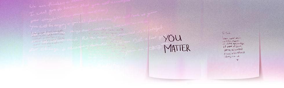 Handwritten text collage