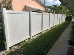 PVC Privacy T&G white fort lauderdale