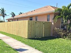 Protek-Fence Wood Board-on-board fence Hollywood Florida