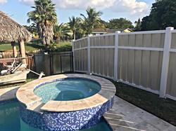 Protek-Fence PVC Shadow-box Privacy Fence Sunrise Florida