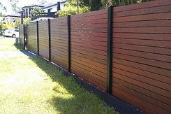 IPE Fencing w/ metal posts Fort Lauderdale