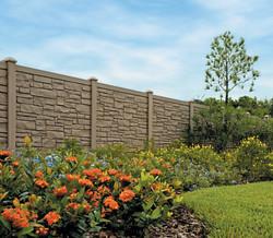 SimTek fence Brown Granite, plantation Florida.jpg