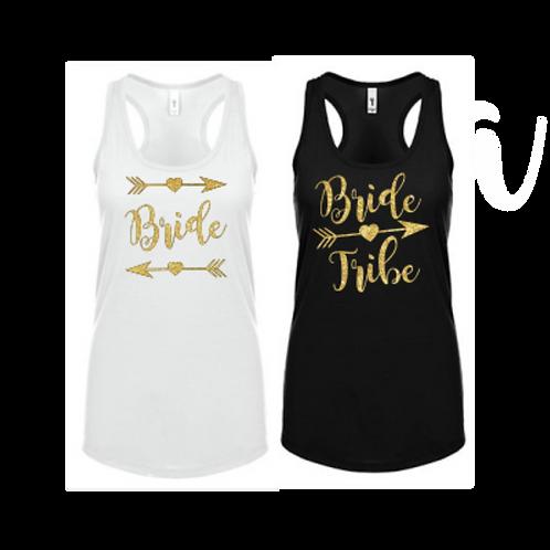 Bride/Bride Tribe Bachelorette Racerback Tanks