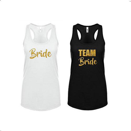 Team Bride Bachelorette Racerback Tanks
