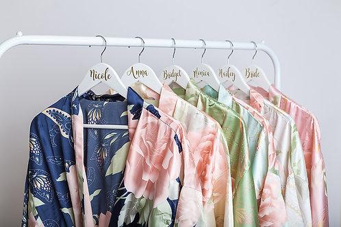 Sophia Floral Satin Bridesmaid Robes