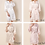 Thumbnail: White Rose Gold Letter Satin & Lace Robe