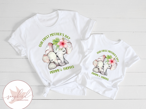 Our First Mothers Day Matching Shirts