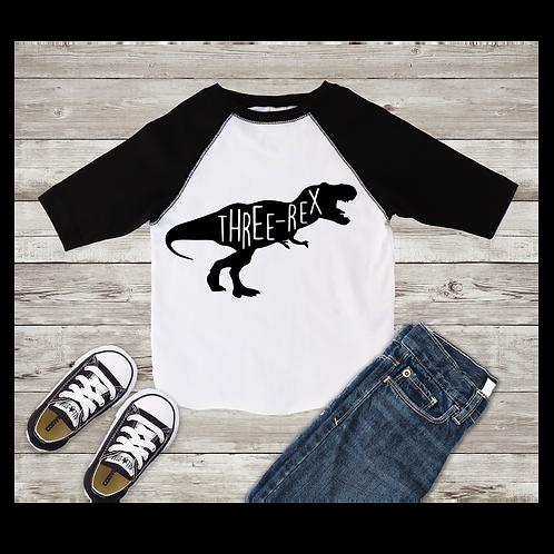 Three Rex 3rd Birthday Shirt