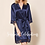 Thumbnail: Navy Romantic Satin & Lace Robe