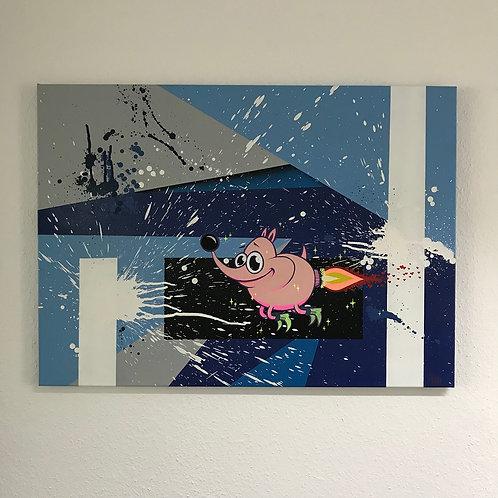 """Rocket-Pinky"" Canvas"