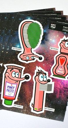 Pinky Ponko Sticker Sheet 2/2020