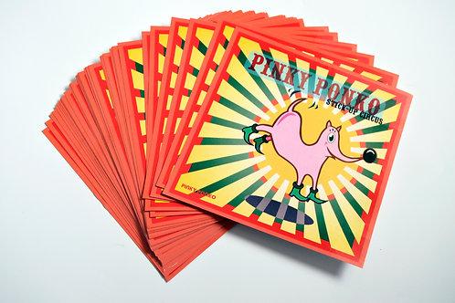 "PINKY PONKO Stick-up circus  ""1st Sticker"""