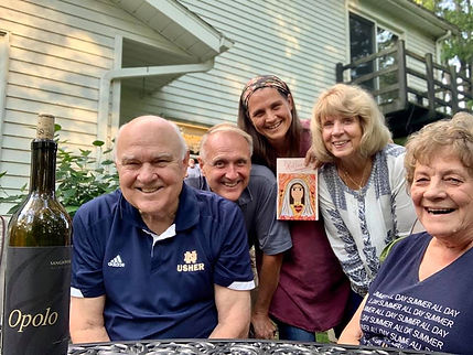 My parents and John and Annie Thomas with me and the new release!
