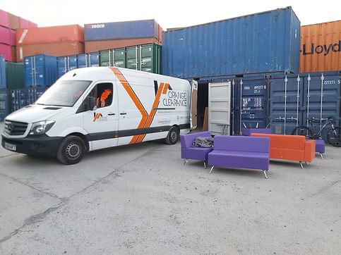 Orange Clearance providing a free storage unit