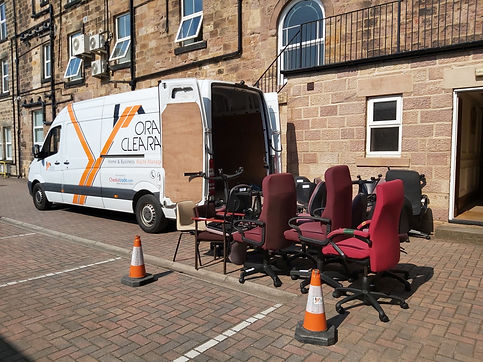 Office Clearance in Harrogate by Orange Clearance Limited Company.