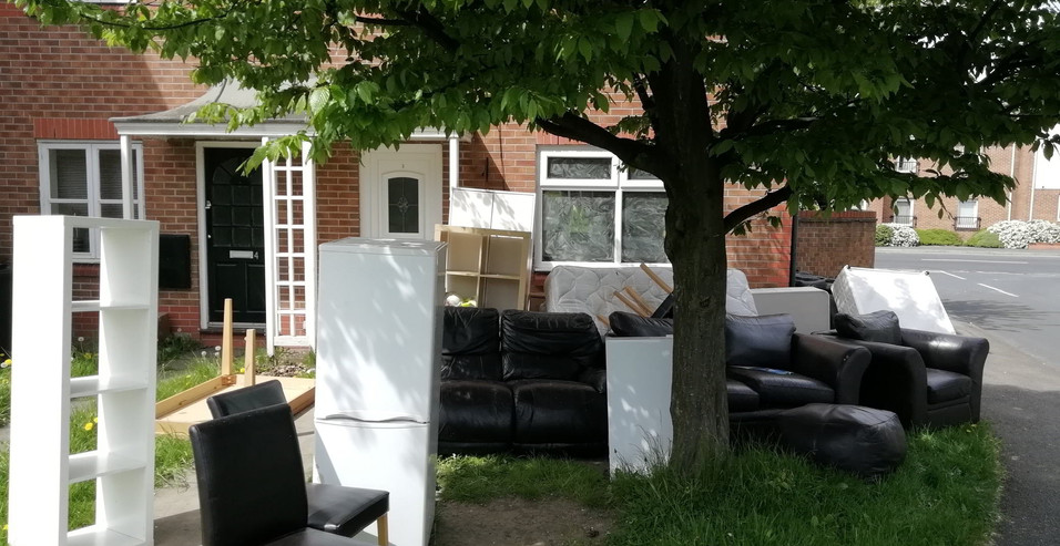 BEFORE Household Rubbish Removal.