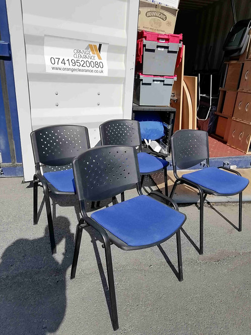 Stacking Chairs/ Blue x4