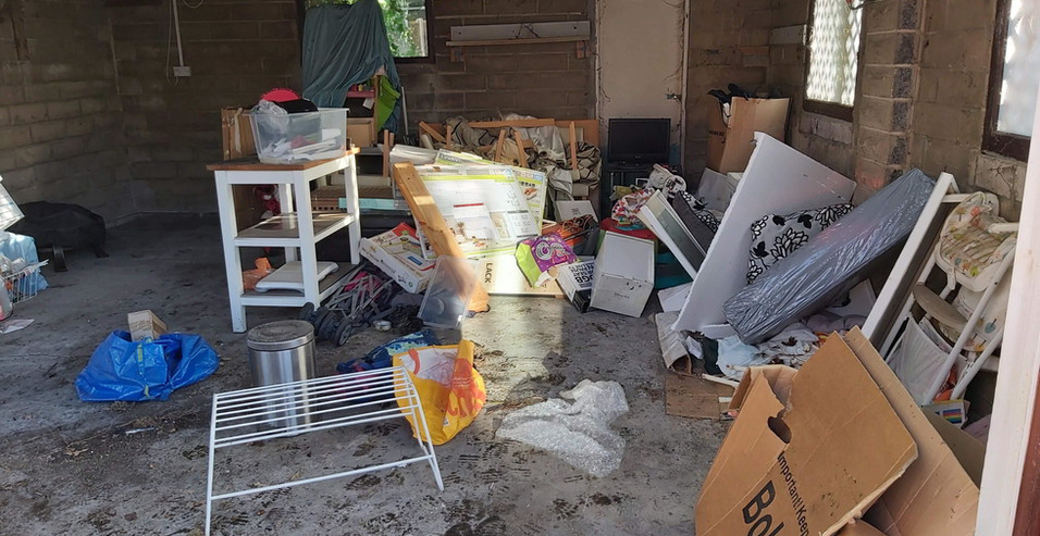 BEFORE garage waste removal