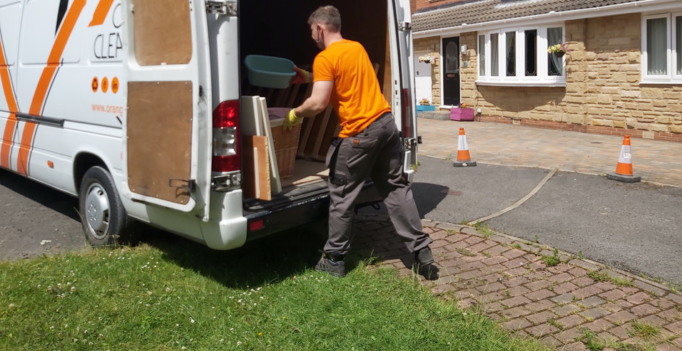 Rubbish Clearance in Leeds by Orange Clearance Limited Company.