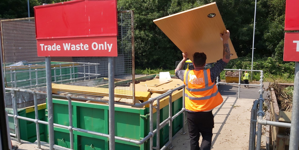 Removing the rubbish at Leeds recycling center
