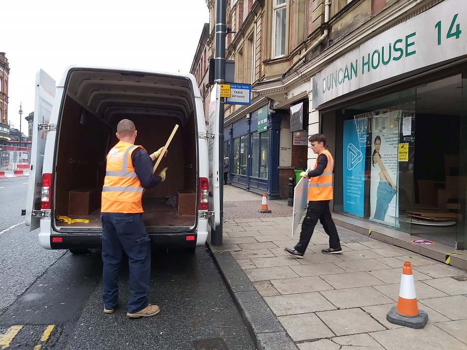 Office Clearance providing moving services in Leeds