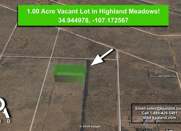 1 Acre Highland Meadows Lot! #2