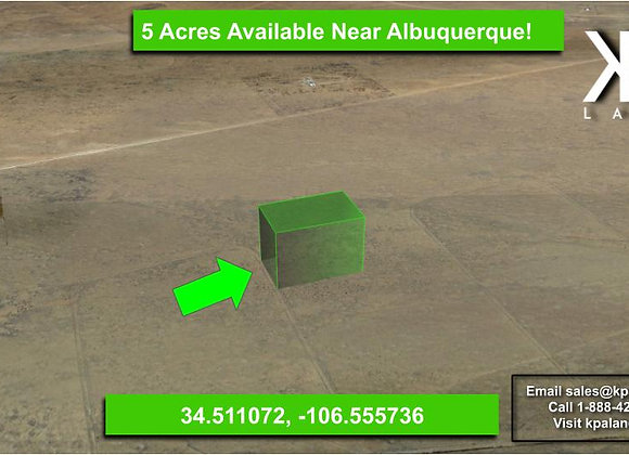 5 Acre Vacant Lot East of Belen, NM!