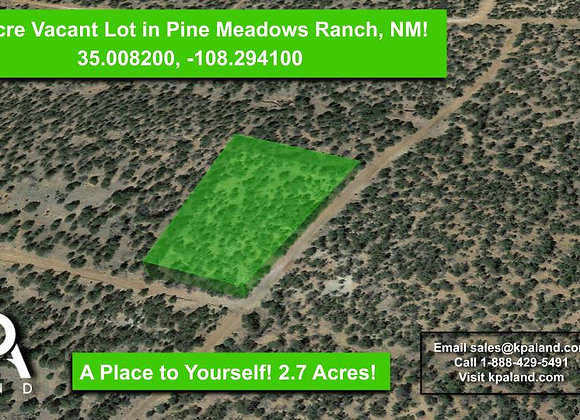 2.71 Acre Corner Lot for Sale in Pine Meadows Ranch, NM!
