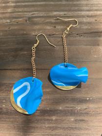 Blue Fimo Earrings